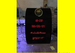 ساعت و تقویم دیجیتال اداری-بانکی ۴ خط